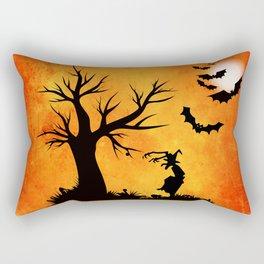 Halloween Bat Night Rectangular Pillow