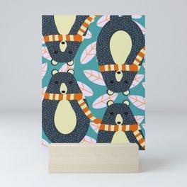Four bears Mini Art Print