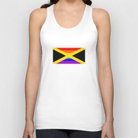 jamaica Tank Tops featuring jamaica country gay flag homosexual by tony tudor