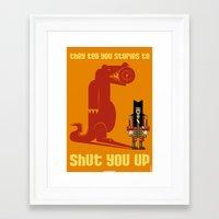 hook Framed Art Prints featuring HOOK : Huge Hook by SimonCARUSO.com