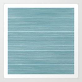 Island Paradise Blue Weathered Whitewash Wooden Beach House Art Print