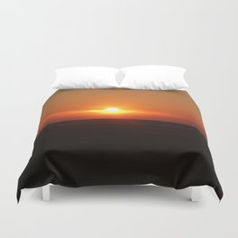 Sunset in Wiltshire England Duvet Cover