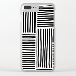 Crossed Lines II Clear iPhone Case