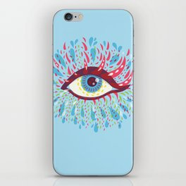Weird Blue Psychedelic Eye iPhone Skin