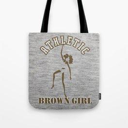 Athletic Brown Girl Tote Bag