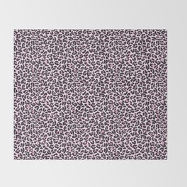 Pastel leopard fur texture Throw Blanket