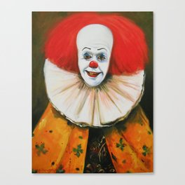 Clown With A Ruffled Collar Canvas Print