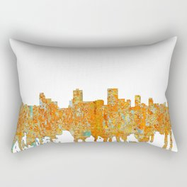 Anchorage, Alaska Skyline - Rust Rectangular Pillow