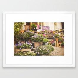 Flower shop in Berlin Framed Art Print