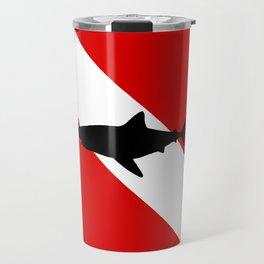 Diving Flag: Shark Travel Mug