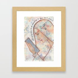 Let It Be Done by patsy paterno Framed Art Print