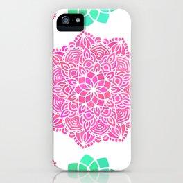 pink mandala pattern iPhone Case