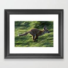 Fox cub on the Run Framed Art Print