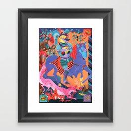 Picnic Knight Framed Art Print
