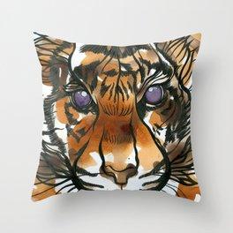 Tea Tiger Throw Pillow