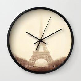 Eiffel Tower Atmosphere Wall Clock