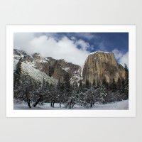 yosemite Art Prints featuring Yosemite by Michelle Chavez