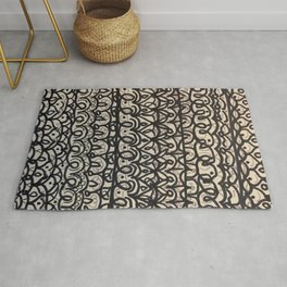Horizontal Mandala Drawing Rug