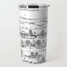 GREYHOUND TOILE LANDSCAPE  drawing Travel Mug