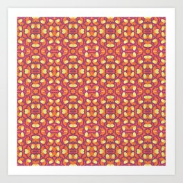 Summer Colors Pattern 4 Art Print