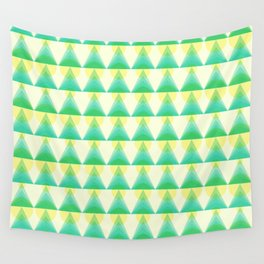 Trees and Lights Pattern Wall Tapestry