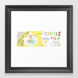 Minestrone, the traditional recipe ! Framed Art Print