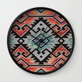 Southwest Silver Wall Clock