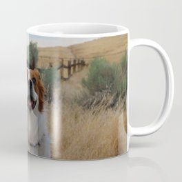 Smiling pup in a field Coffee Mug