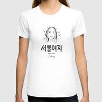 seoul T-shirts featuring Seoul lady by uzualsunday