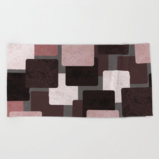 Geometric Marble 06 (abstract) Beach Towel