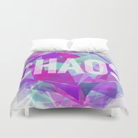 chaos Duvet Covers featuring CHAOS by artic