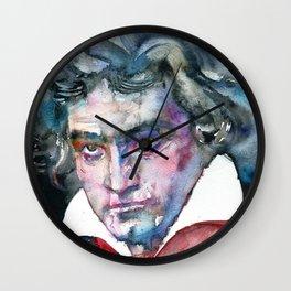 LUDWIG VAN BEETHOVEN - watercolor portrait.2 Wall Clock