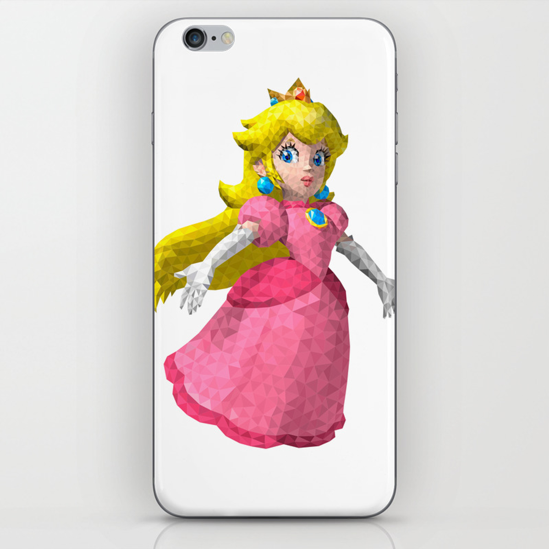 Princess Peach Super Mario Nintendo Illustration Pixel Art Iphone Skin By Eightandabit