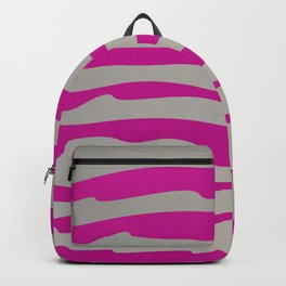 tiger wild lines pink silver Backpack