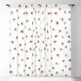 Floral rustic pattern with flowers, vector graphic design Blackout Curtain