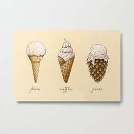 Ice Cream Cones Metal Print