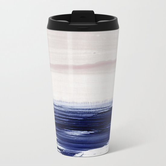 blue sea Metal Travel Mug