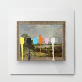 Thrift Store Landscape with a Color Test Metal Print