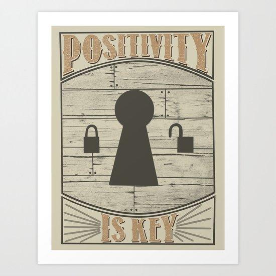 Positivity Is Key v.2 Art Print
