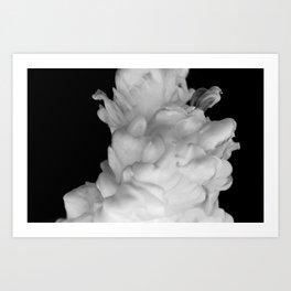 Plume on Black Art Print