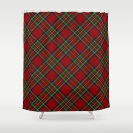 The Royal Stewart Tartan Stuart Clan Plaid Tartan Shower Curtain