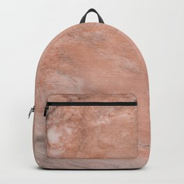 Peach Marble texture Backpack