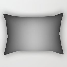 Black to White Vertical Bilinear Gradient Rectangular Pillow