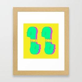 4 Heads Framed Art Print
