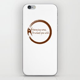 Harming None,Do What You Wil iPhone Skin