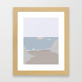 RIDNING PÅ STRANDEN Framed Art Print
