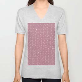 Sunset in Odense XI Hand drawn doodle floral Unisex V-Neck