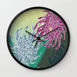 chrysanthemums  Wall Clock