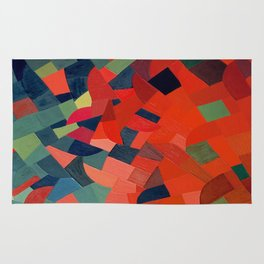 Grün-Rot Otto Freundlich 1939 Abstract Art Mid Century Modern Geometric Colorful Shapes Hard Edge Rug