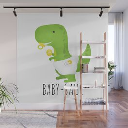 Baby-saur Wall Mural
